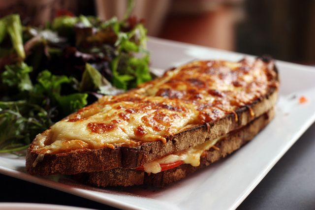 Vegetarian Grilled Zucchini Croque Mademoiselle Recipes — Dishmaps