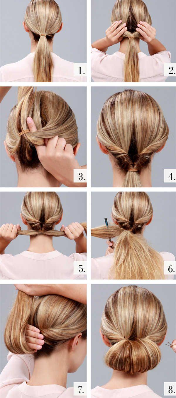 Прически ежедневные на средние волосы сделать самой себе