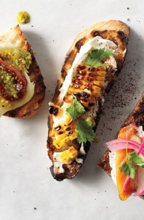 grilled corn crema mexicana amp cilantro crostini i will celebrate my ...