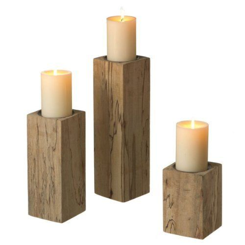 Pin by jennifer finch on ideas i love pinterest for Candle holders out of wood