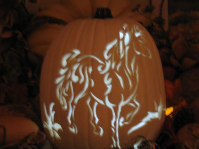 halloween pumpkin horse stencils