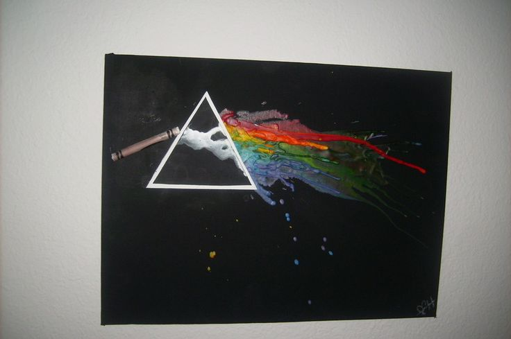 Pink Floyd Inspired Melted Crayon Art