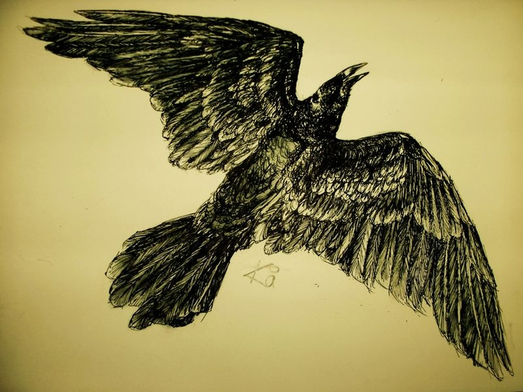 Flying crow tattoos - photo#17