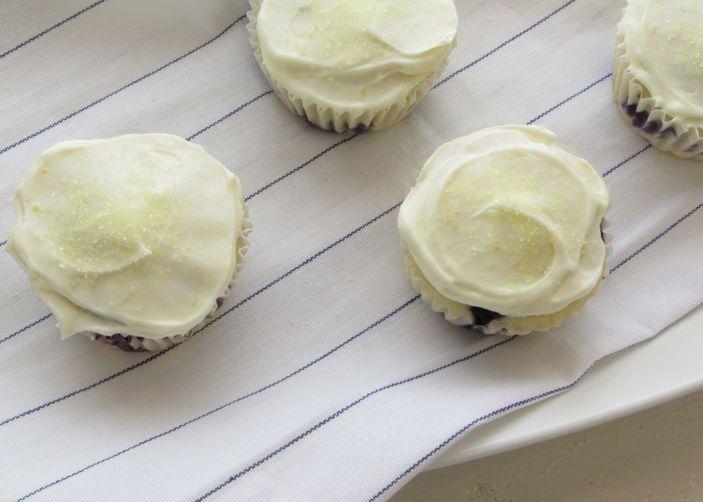 Blueberry & Lemon Cupcakes with Lemon Cream Cheese Frosting | Recipe