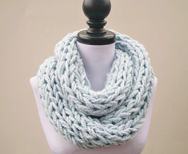 Infinity Scarf Knitting Pattern Ravelry : Polar Infinity Scarf pattern by Diane Serviss