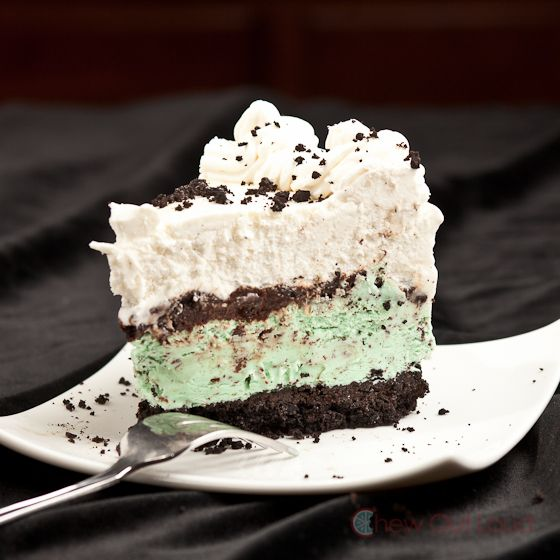 ... part! Mint ice cream cake with fudge crunchies from Chew Out Loud Blog