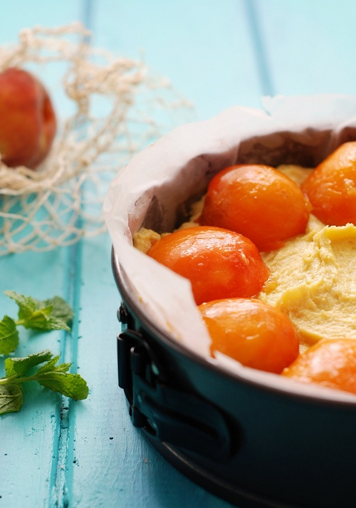 bourbon & butter poached peach cake | Sweeties for Holly St Eatery ...