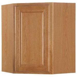 Hampton Bay 24x30x12 In Wall Cabinet In Medium Oak Kw2430 Mo 2015 Home Design Ideas