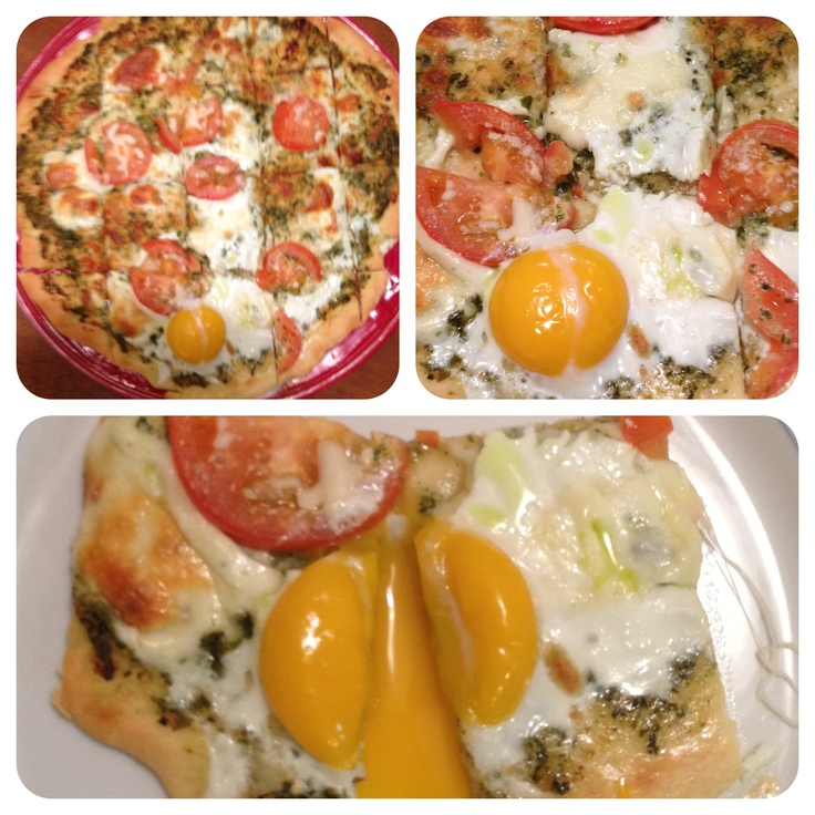Pizza with a Sunny-Side-Up Egg and Herb Garden Pesto | Recipe