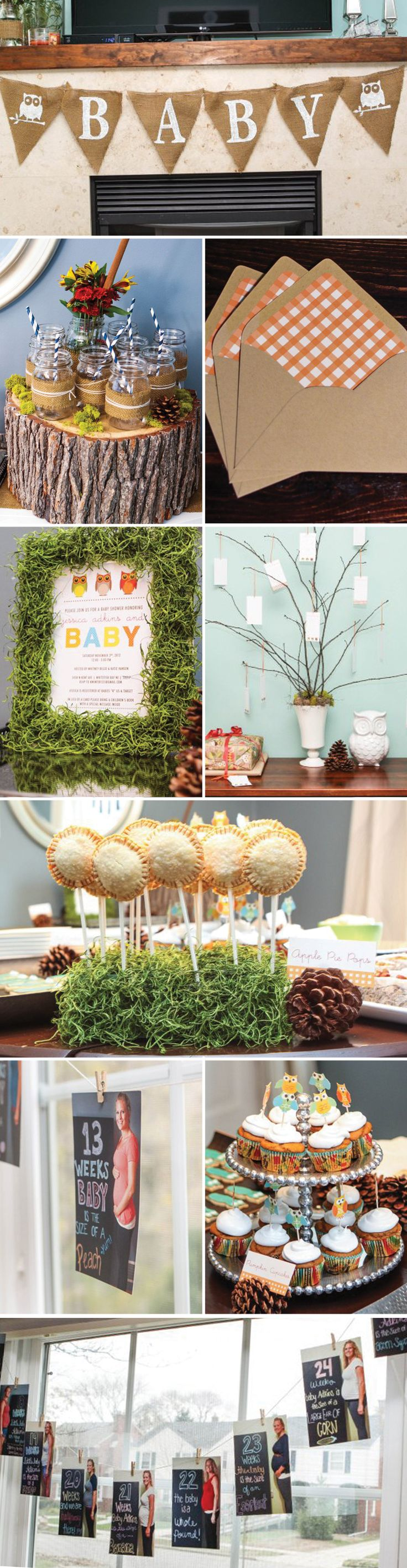 neutral rustic owl baby shower baby shower ideas pintere