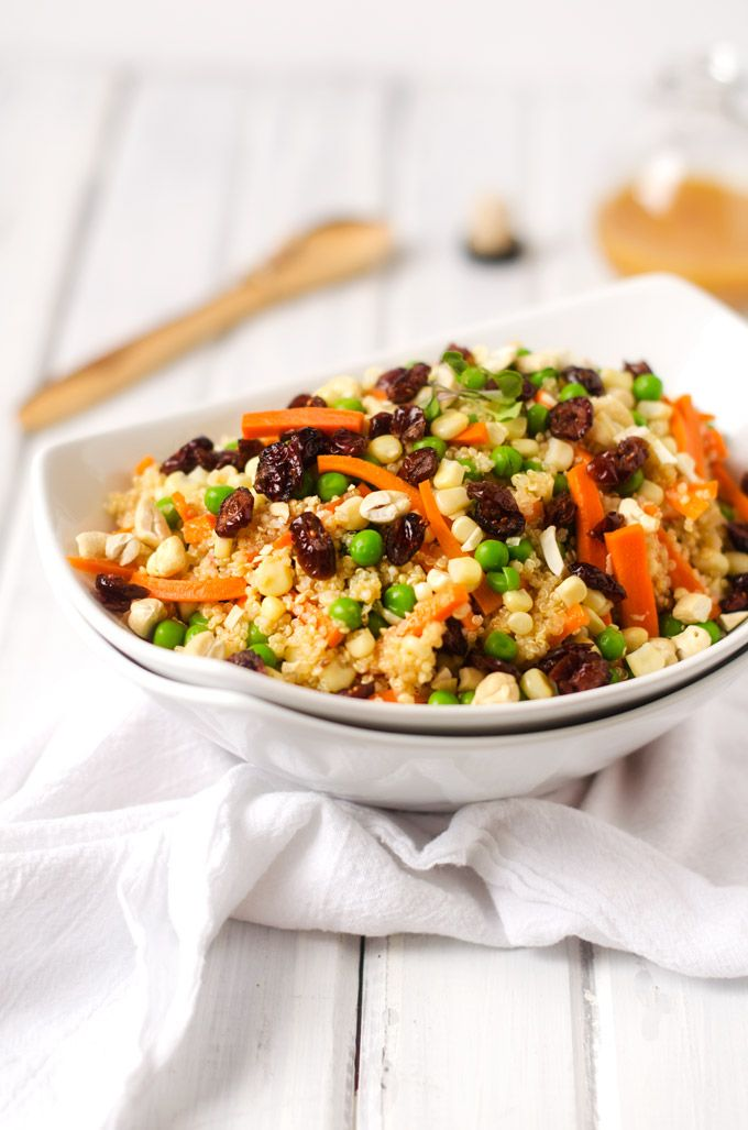 Quinoa Salad with Spicy Pumpkin Vinaigrette | Recipe