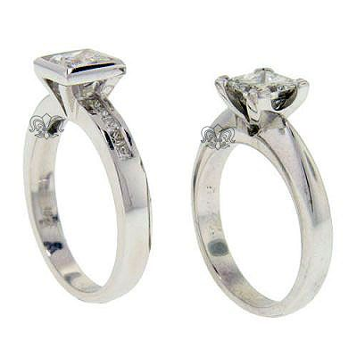 princess cut diamond solitaire engagement rings in white gold brisbane ...