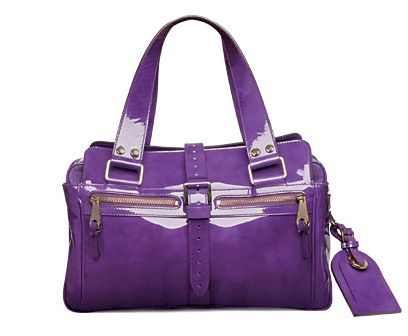 Mulberry 'Mabel' Purple Patent Bag