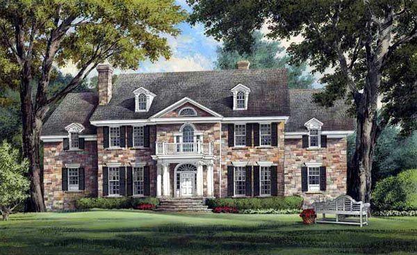 Colonial Plantation Southern House Plan 86213