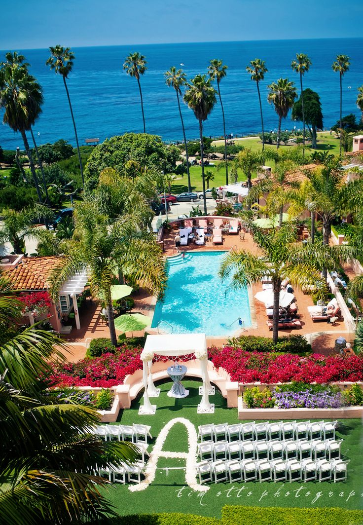 The Gorgeous La Valencia. La Jolla, California. It really looks like this too. Perfect spot for a wedding!