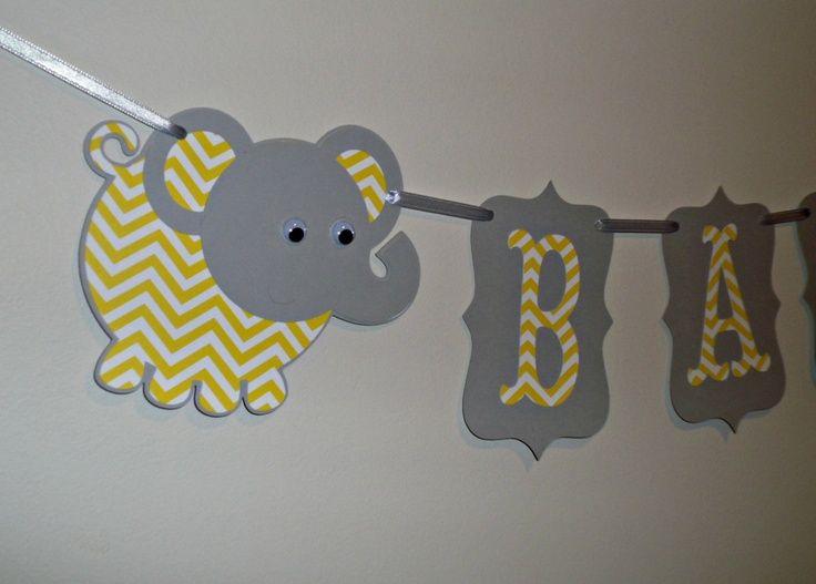 chevron baby shower decorations chevron elephant its a girl