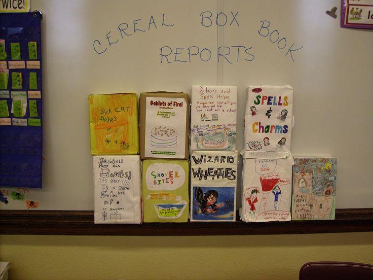 cereal box book report names
