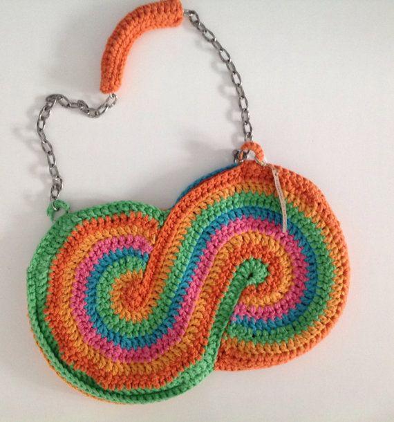 Handmade Crochet Purses : Handmade crocheted purse from cotton / Bolso de algodon hecho a mano ...