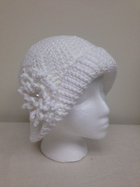 Crocheting Hats For Cancer Patients : White Cotton Sun Hat Great for Cancer Patients Size ? by modstitches ...