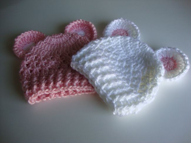 Free Easy Preemie Crochet Patterns : Baby Crochet Hat Pattern - Preemie to 12 months - Instant ...