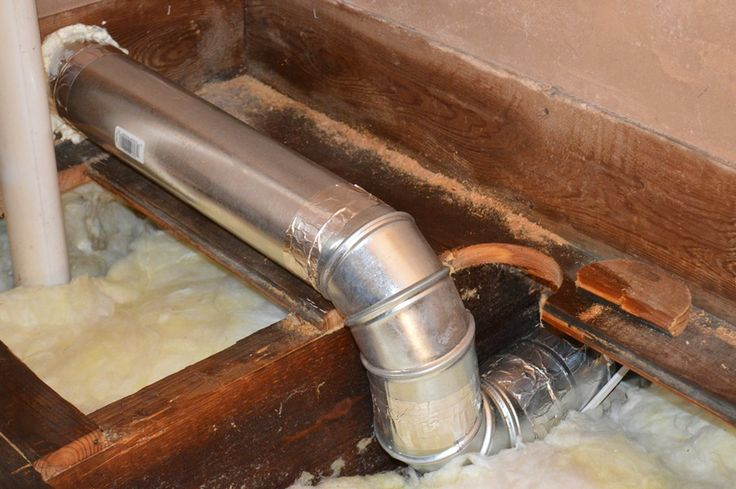 Installing rigid vent duct for a bath fan for Installing bathroom exhaust fan