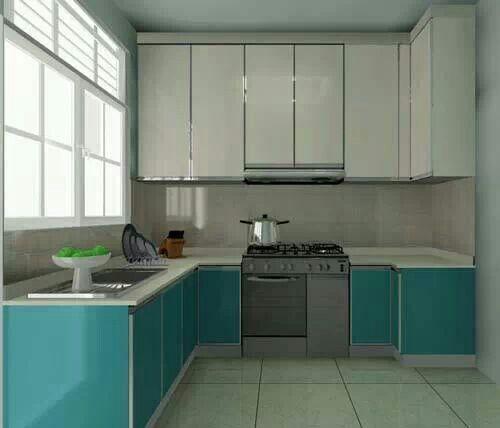 Turquoise and white kitchen  Kitchen ideas  Pinterest
