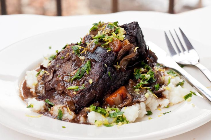 Red Wine Braised Short Ribs. Please click on the photo in Yumgoggle to ...