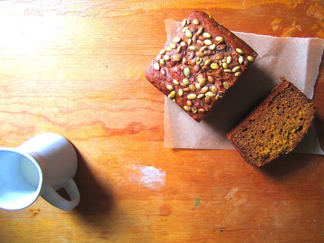 olive oil pumpkin bread | From my kitchen/Salvegging.blogspot.com | P ...