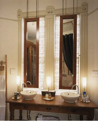 Brilliant 49 Bathroom Mirrors In Front Of Windows
