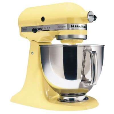 seems to me this pale yellow kitchenaid mixer could stir sunshine into