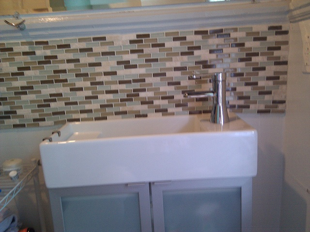 Pin by amelia ostler on home sweet home pinterest for Backsplash for bathroom sink ideas