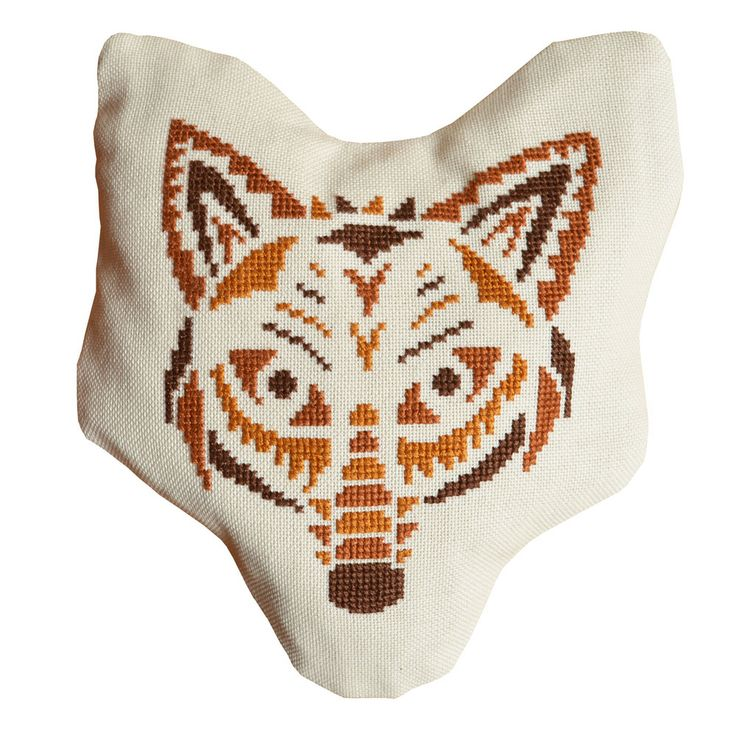 Crochet Navajo Stitch : Navajo Wolf (no tutorial) crochet, embroider, & knit Pinterest