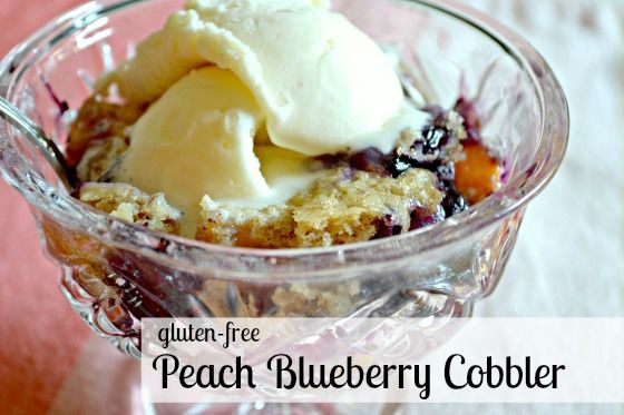 Envision Pretty: gluten-free peach blueberry cobbler this looks easy ...
