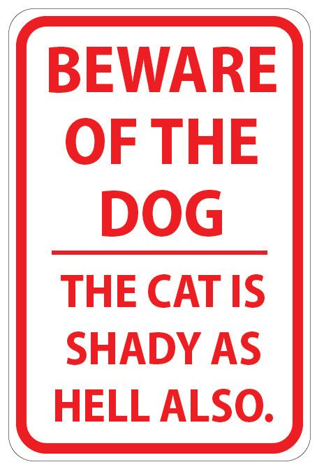 Fair warning of that shady ass cat