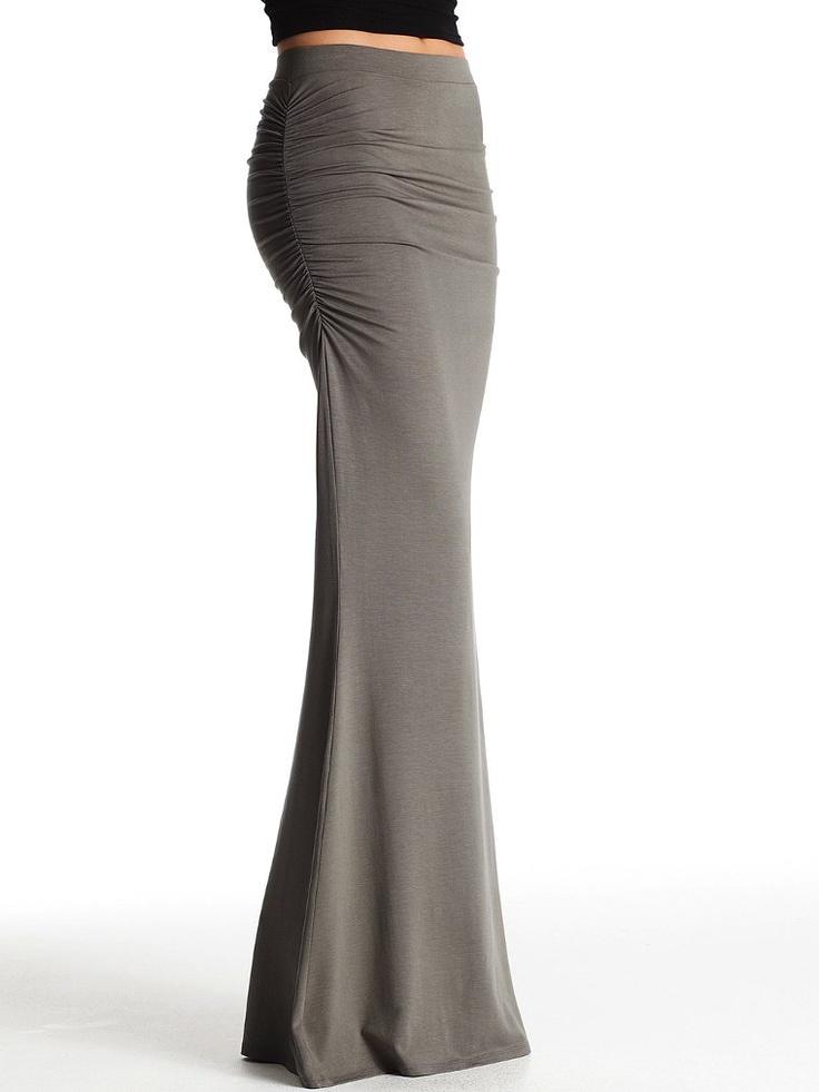 39 50 ruched maxi skirt s secret