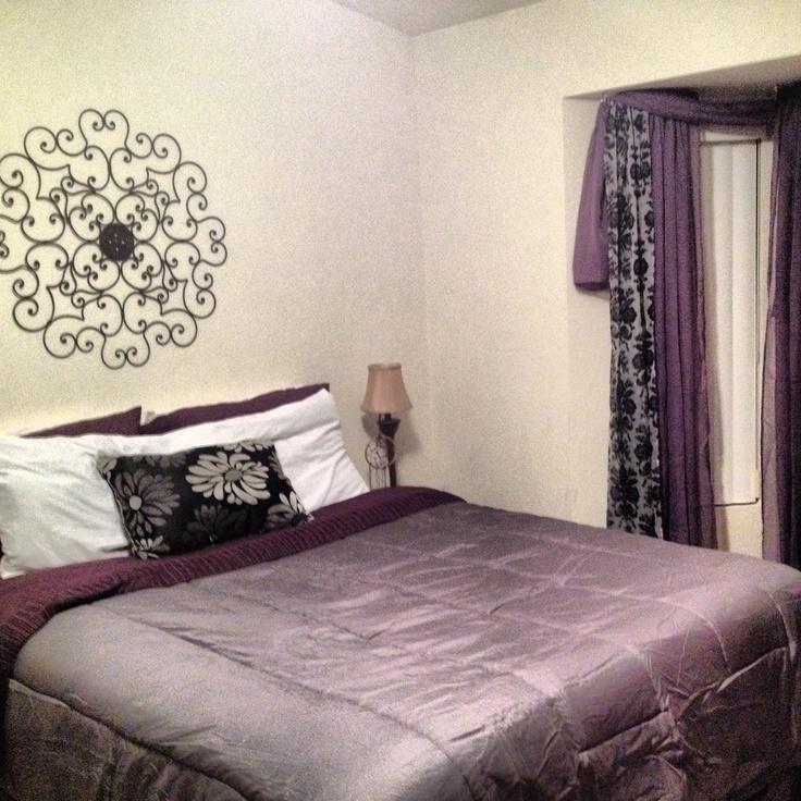 purple gray home bedroom pinterest