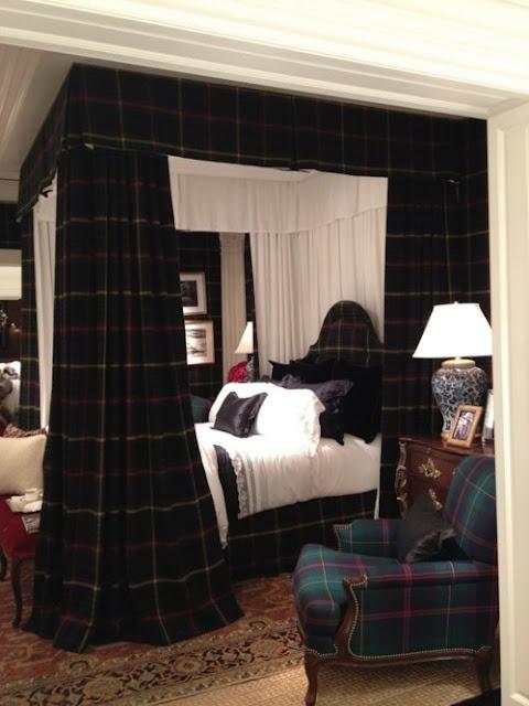 tartan bedroom