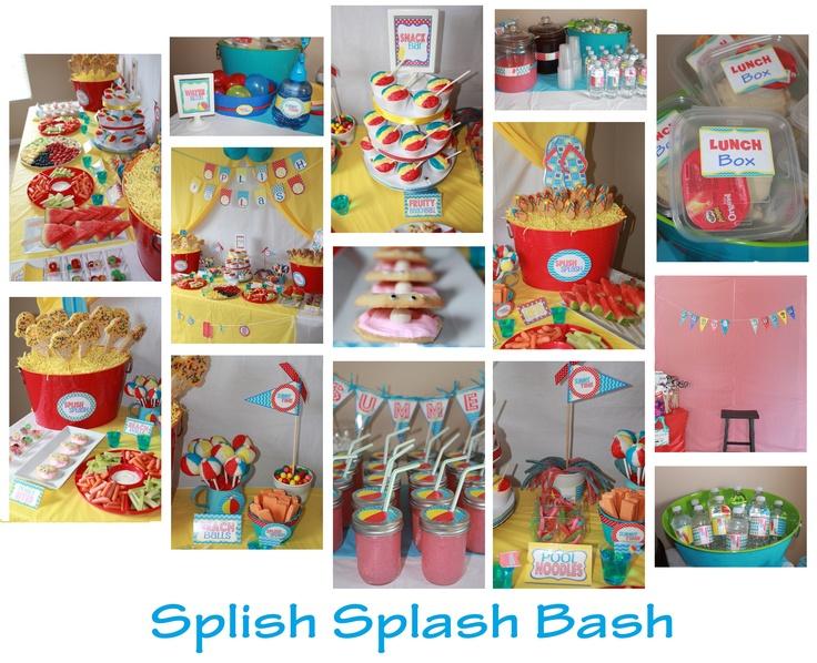 Splish splash water party first bday water play pinterest