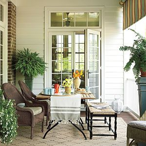 Style Guide: 61 Breezy Porches and Patios | Gracious Side Porch | SouthernLiving.com