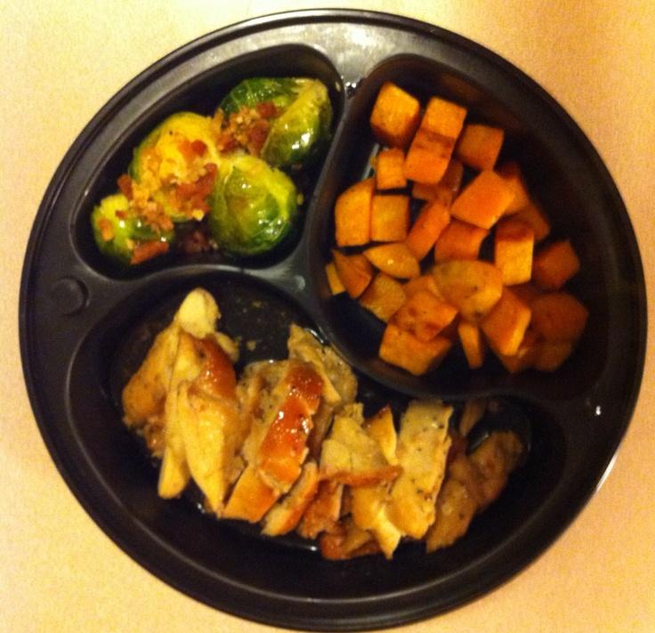 Brown Sugar Roasted Chicken Thigh's, Apple Cider Glazed Sweet Potato ...
