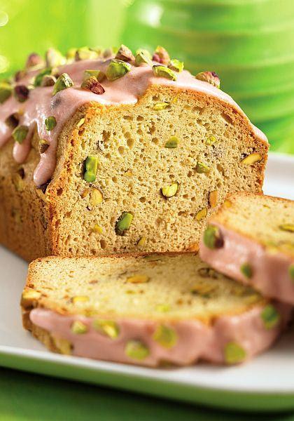 "Rose Water Pistachio Pound Cake Recipe - Recipe from ""Piece of Cake!"""