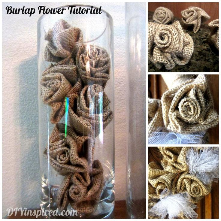 Diy tutorial diy burlap crafts diy how to make a burlap for Burlap crafts
