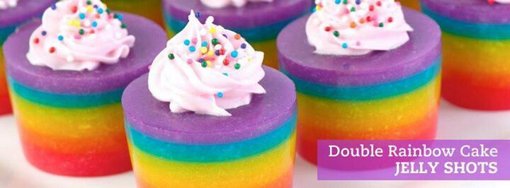 Rainbow Cake Jello Shots | Jello Shots | Pinterest