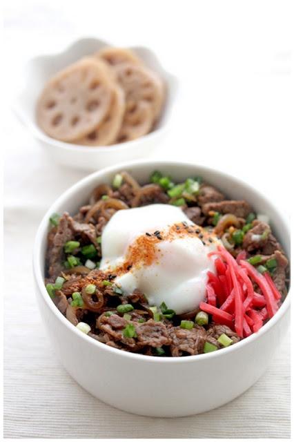 Gyudon & Onsen Tamago (Japanese Beef Rice Bowl)