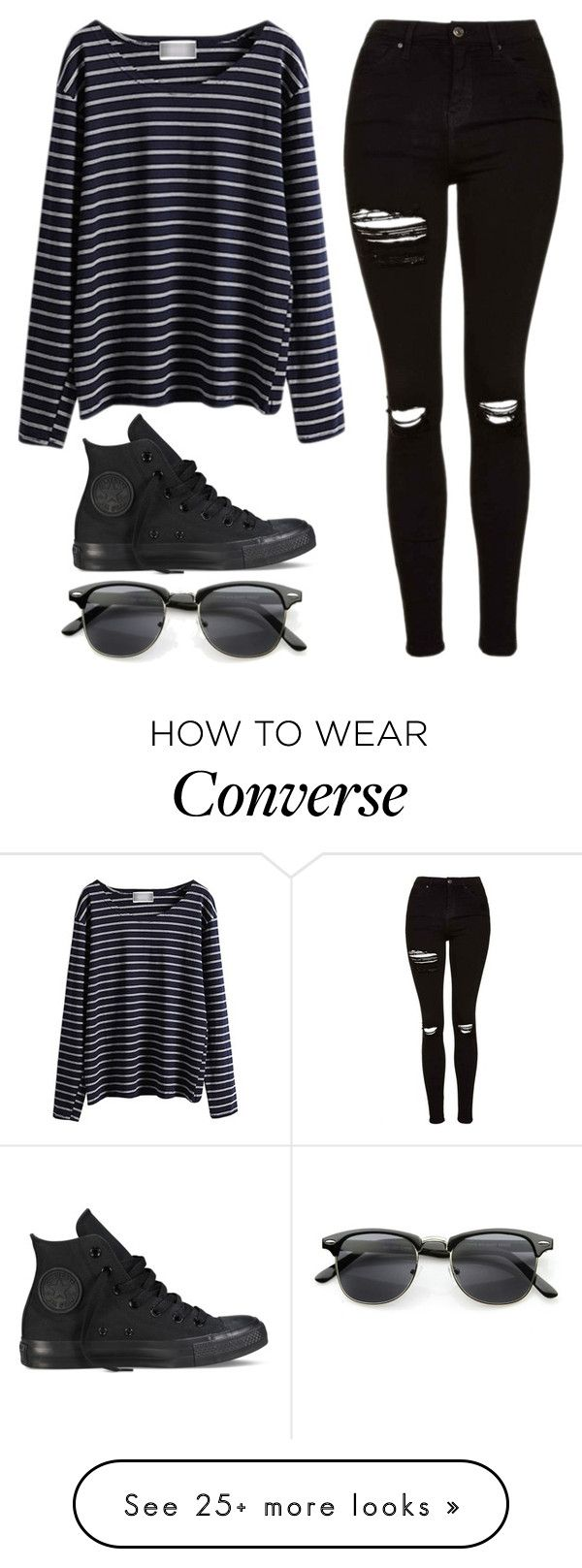Black converse outfit winter