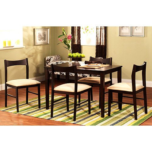 contemporary 5 piece dining set espresso love this style size and