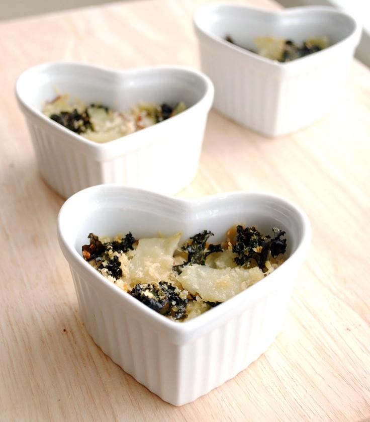 Mini Kale and Potato Gratins | Vegetable Deliciousness | Pinterest