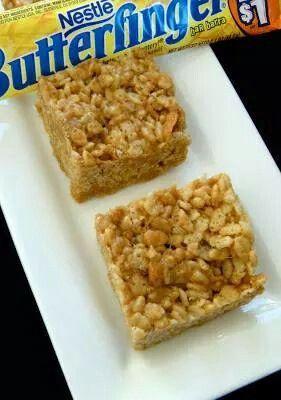 Butterfinger rice krispies   Cookies   Pinterest