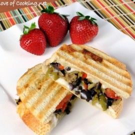 tapenade, mozzarella and tomato panini   food   Pinterest
