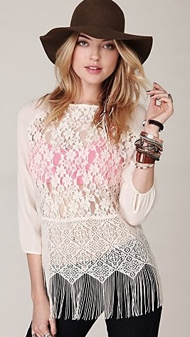 If you love lace then you will love this.